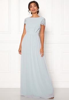 Moments New York Camellia Chiffon Gown Blue-grey Bubbleroom.eu