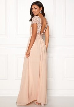 Moments New York Camellia Chiffon Gown Beige-pink Bubbleroom.eu