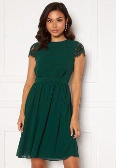Moments New York Camellia Lace Dress Dark green Bubbleroom.eu