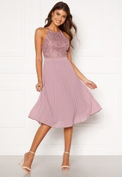 Moments New York Casia Pleated Dress Old rose Bubbleroom.eu