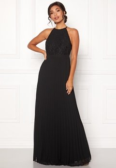 Moments New York Casia Pleated Gown Black Bubbleroom.eu