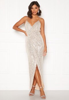 Moments New York Charlotte Sequin Gown Gold Bubbleroom.eu