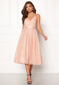 Moments New York Daphne Mesh Dress Dusty pink Bubbleroom.eu