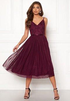 Moments New York Daphne Mesh Dress Wine-red Bubbleroom.eu