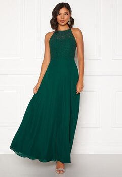 Moments New York Evelyn Lace Gown Dark green Bubbleroom.eu