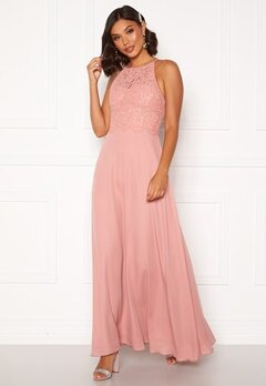 Moments New York Evelyn Lace Gown Pink Bubbleroom.eu