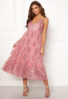 Moments New York Gardenia Lace Dress Dusty pink Bubbleroom.eu