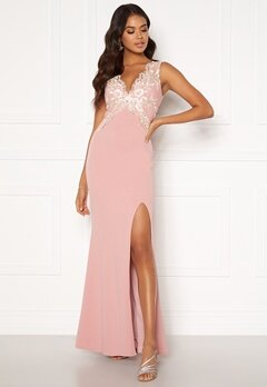 Moments New York Isabella Lace Gown Dusty pink Bubbleroom.eu