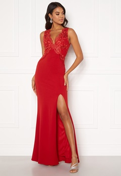 Moments New York Isabella Lace Gown Red Bubbleroom.eu