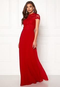 Moments New York Kassia Crochet Gown Red Bubbleroom.eu