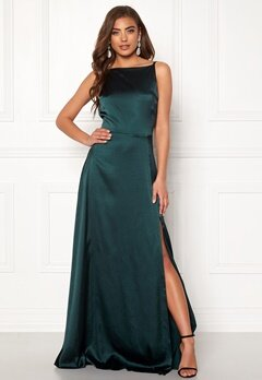 Moments New York Laylani Satin Gown Dark green Bubbleroom.eu