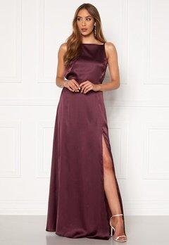 Moments New York Laylani Satin Gown Wine-red Bubbleroom.eu