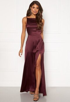 Moments New York Laylani Satin Gown Wine-red Bubbleroom.eu
