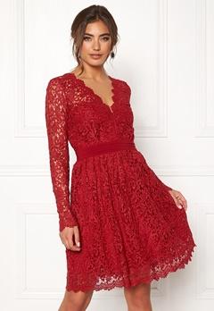 Moments New York Leyla Crochet Dress Vinröd Bubbleroom.eu