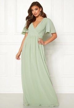 Moments New York Liana Chiffon Gown Light green Bubbleroom.eu