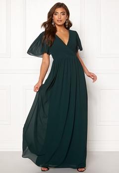 Moments New York Liana Chiffon Gown Dark green Bubbleroom.eu