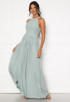 Moments New York Linnea Pleated Gown Jade-green Bubbleroom.eu