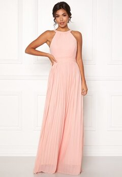 Moments New York Linnea Pleated Gown Light pink Bubbleroom.eu
