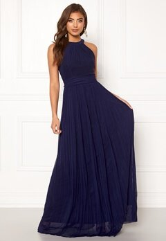 Moments New York Linnea Pleated Gown Navy Bubbleroom.eu