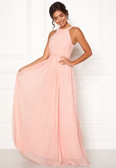 Moments New York Linnea Pleated Gown Rosa Bubbleroom.eu