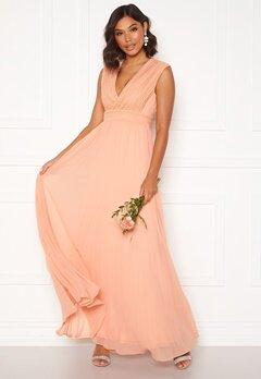 Moments New York Loana Crochet Gown Light pink Bubbleroom.eu