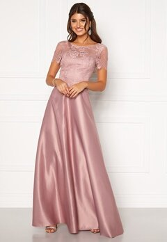 Moments New York Madeleine Satin Gown Light lilac Bubbleroom.eu