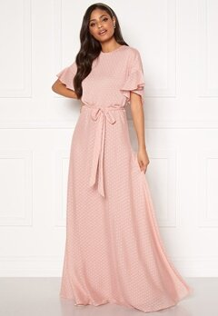 Moments New York Maja Dotted Gown Pink Bubbleroom.eu