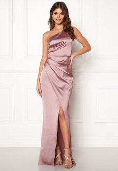 Moments New York Rosemary Satin Gown Lilac Bubbleroom.eu