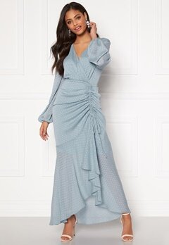 Moments New York Thea Dotted Gown Light blue Bubbleroom.eu