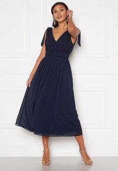 Moments New York Theodora Dotted Dress Dark blue Bubbleroom.eu