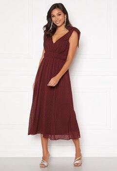 Moments New York Theodora Dotted Dress Wine-red Bubbleroom.eu