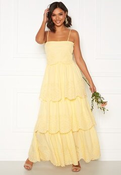 Moments New York Vera frill gown Light yellow Bubbleroom.eu