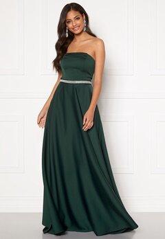 Moments New York Victoria Satin Gown Emerald green Bubbleroom.eu