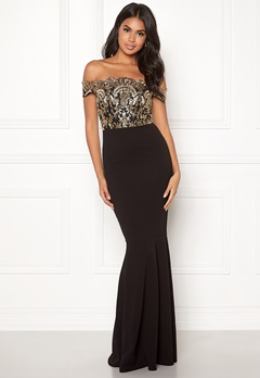Moments New York Francine Sequin Gown Black / Gold Bubbleroom.eu