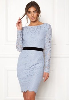 Moments New York Romy Lace Dress Grey-blue Bubbleroom.eu