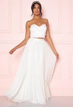 Moments New York Zaria Pleated Skirt White Bubbleroom.eu