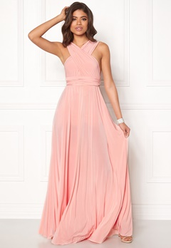 Goddiva Multi Tie Maxi Dress Oyster Bubbleroom.eu