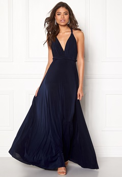 Goddiva Multi Tie Maxi Dress Navy Bubbleroom.eu