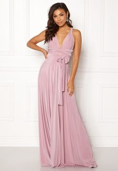 Goddiva Multi Tie Maxi Dress Dusty Pink Bubbleroom.eu