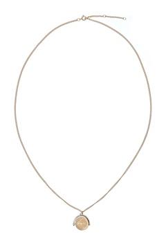 MUSE Zangenberg Long Necklace Mat Gold Bubbleroom.eu