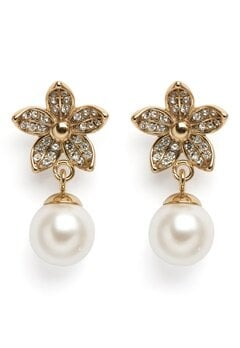 Dyrberg/Kern Nanda Earrings White Bubbleroom.eu