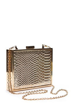 New Look Britney Box Clutch Gold Bubbleroom.eu