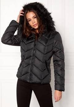 New Look Chevron Puffer Jacket Black Bubbleroom.eu