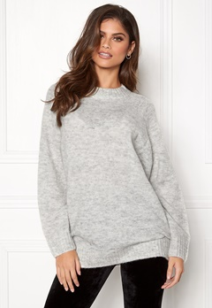 New Look Deep Raglan Knit Tunic Pale Grey Bubbleroom.eu