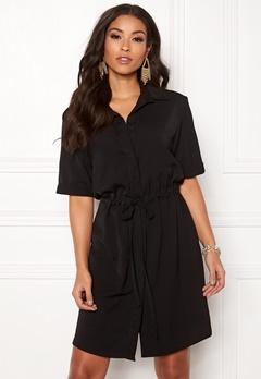 New Look Drawstring Shirt Dress Black Bubbleroom.eu