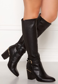 New Look Edwin Heeled Riding Boot Black Bubbleroom.eu