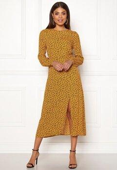 New Look Floral Split Mid Dress Yellow Pattern Bubbleroom.eu
