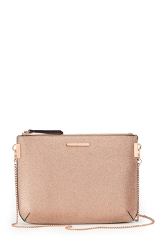 New Look Glitter Curve Flat Clutch Gold Bubbleroom.eu