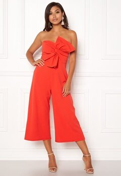 New Look Go Bow Strapless Jumpsuit Red Bubbleroom.eu