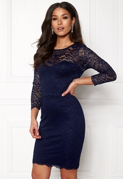 New Look Go Floral Lace Bodycon Navy Bubbleroom.eu